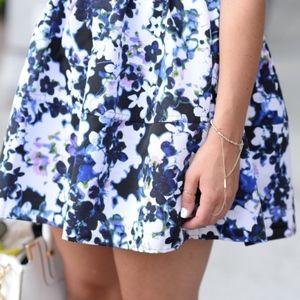 Express | Floral High Waist Full Mini Skirt